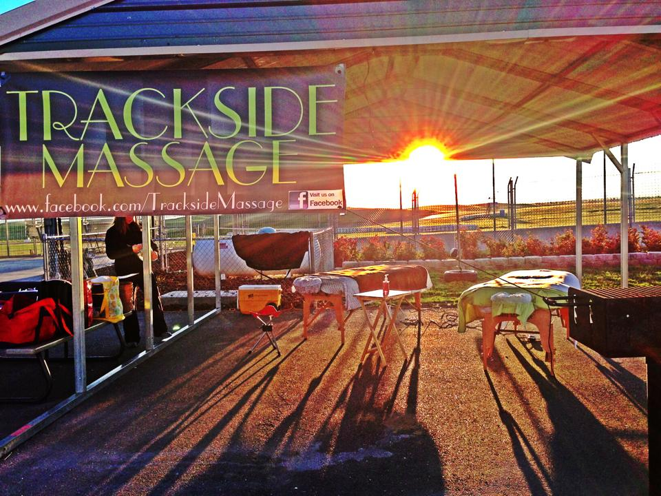 TrackSide Massage at Pacific Track Time