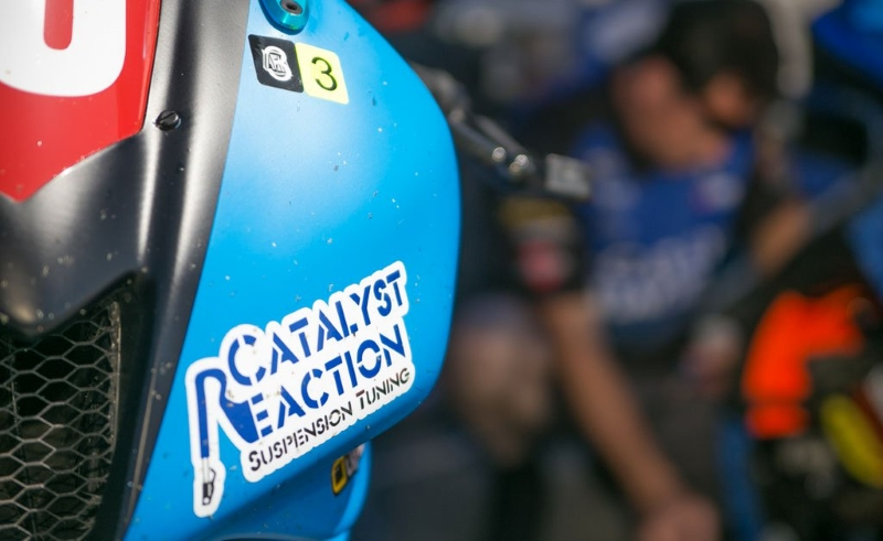 Pacific Track Time - Catalyst Reaction Suspension Tuning - Sticker